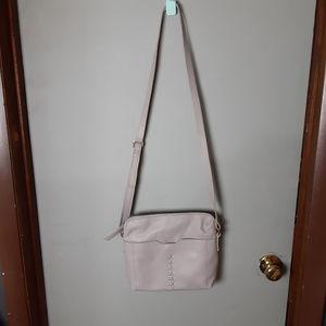 BORN Womens Top Zip Adjustable Lilac Crossbody Bag